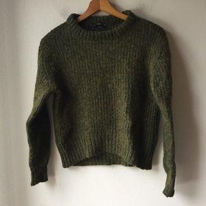 Zara Knit Italian Yarn Sweater Green